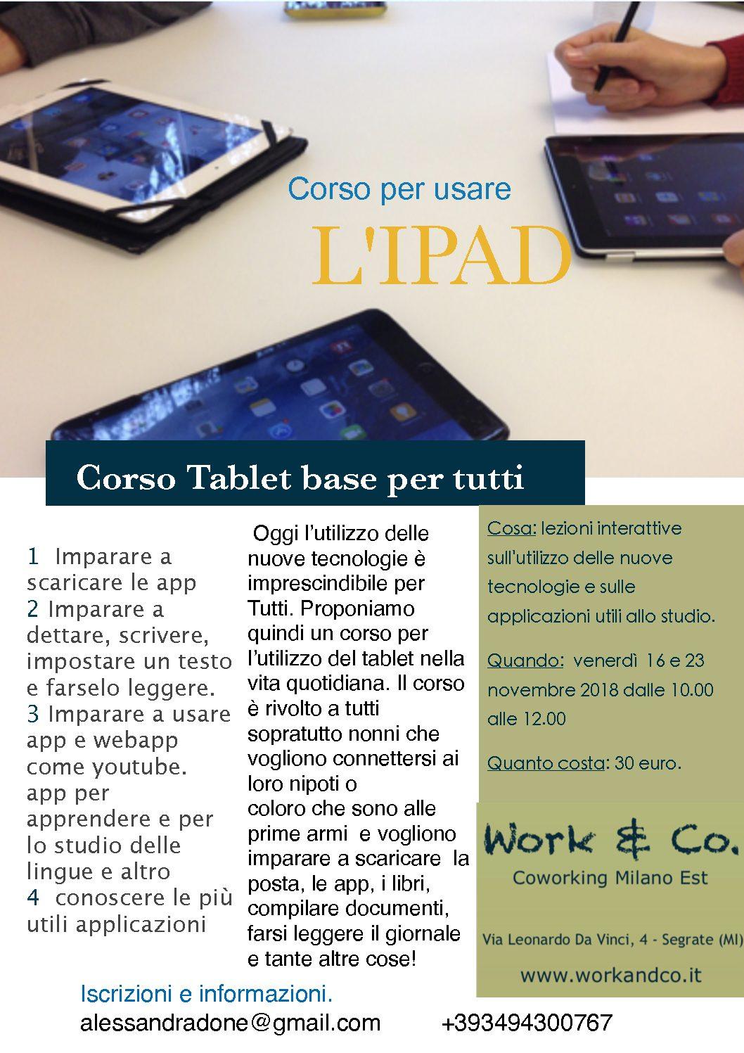 Corso tablet base per tutti