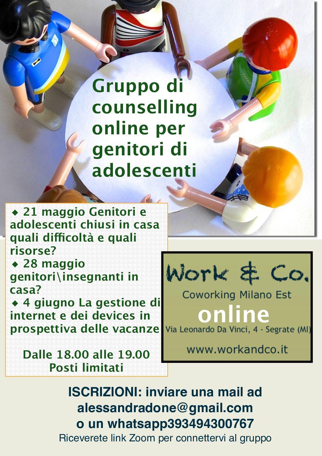 Counselling online per genitori di adolescenti