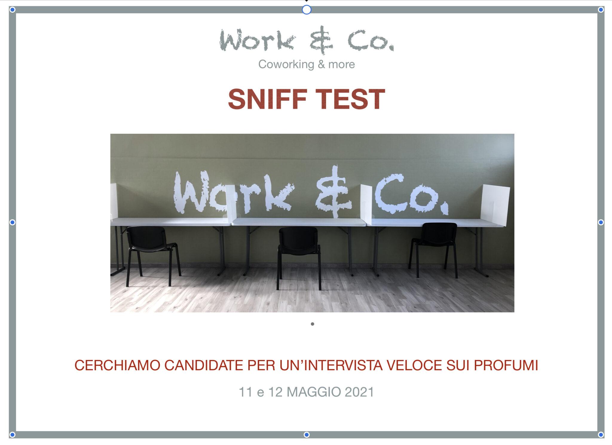Sniff test: un'indagine sui profumi